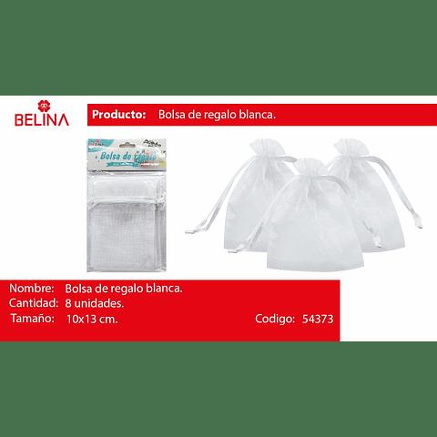 Bolsas De Organza Blanca 8pcs 10x13cm