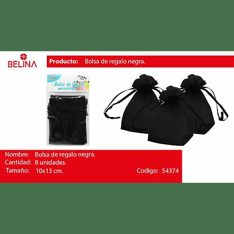 Bolsas de organza negra 8pcs 10x13cm