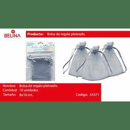 Bolsas de organza gris 10pcs 8*10cm