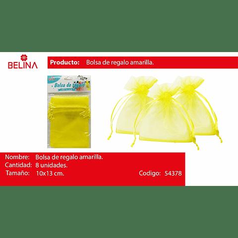 Bolsas De Organza Amarilla 8pcs 10x13cm