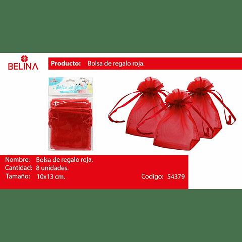 Bolsas De Organza Roja 8pcs 10x13cm