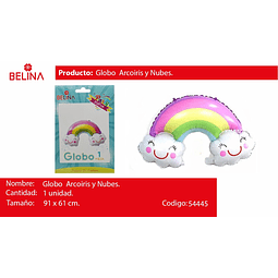 Globo arco iris con nubes 91*61cm