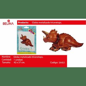 Globo metalico dinosaurio triceratops 42*37cm