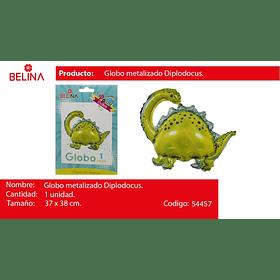 Globo metalico dinosaurio verde 37x38cm