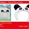 Globo cintillo panda 1pcs 28x29cm