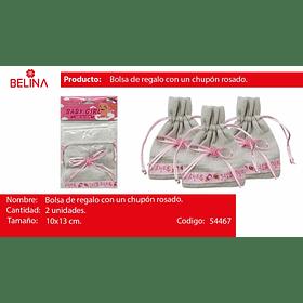 Bolsa De Genero Baby Girl Rosa 2pcs 10x13cm