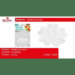 SOPORTE PLASTICO PARA FLORES 6.5CM 4PCS