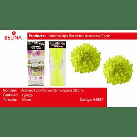 Adorno tipo flor verde 30cm