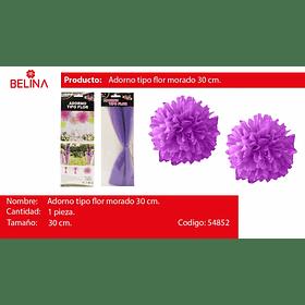 Adorno tipo flor lila 30cm