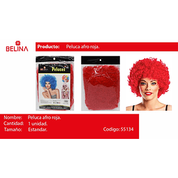 Peluca afro rojo