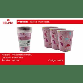 Vaso flamenco rosado