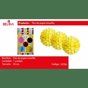 Flor de papel amarillo 30cm