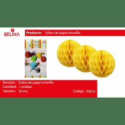 Esferas de papel amarillo 30cm