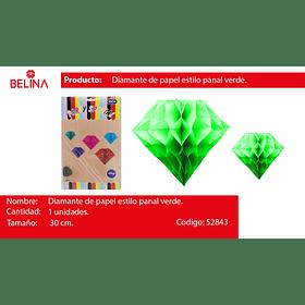 Diamante de papel verde 30cm