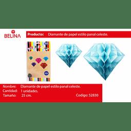 Diamante de papel celeste 25cm