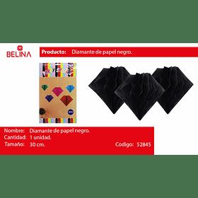 Diamante de papel negro 30cm
