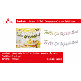Guirnalda tornazol f.c plata