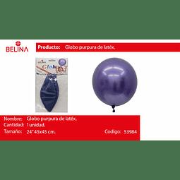 """Globo piñata azul pastel 24"""" 45*45cm"""