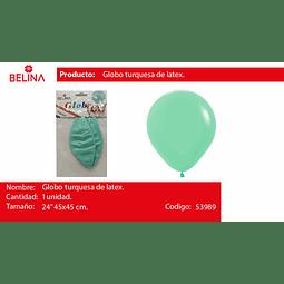 "Globo piñata turquesa pastel 1pcs 24"" 45*45cm"