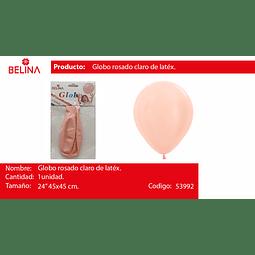 "Globo piñata rosa pastel 1pcs 24"" 45*45cm"