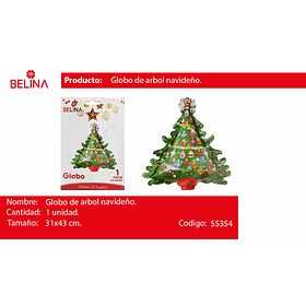 Globo arbol de navidad 31*43cm