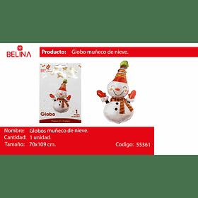 Globo muñeco de nieve 70*109cm