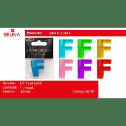 Letra led f