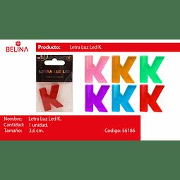 Letra led k