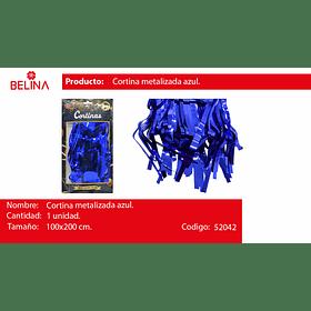 Cortinas metalizadas 2m azul