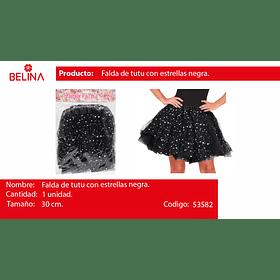 Tutu De Estrellas 30cm Negro