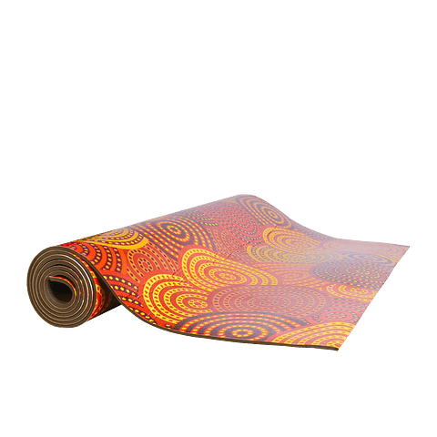 Mat Yoga Diseño Naranja 5mm