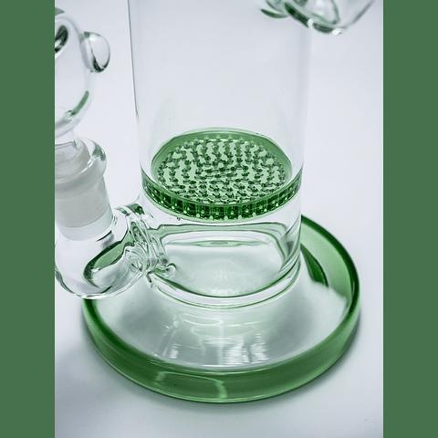 Bong verde arqueo 18cm filtro honey