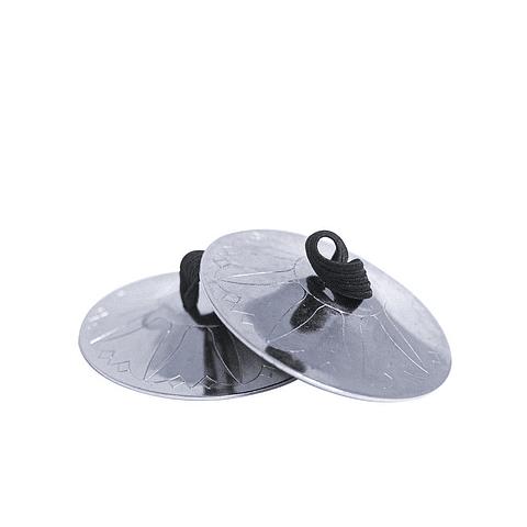 Crótalos plateados 5cm diámetro