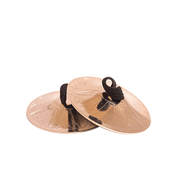 Crótalos dorados 5cm diámetro