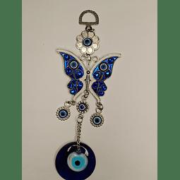 Colgante ojo turco mariposa 18 cm