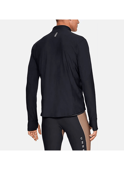 UA 1326595-001 QUALIFIER HALF ZIP-BLK