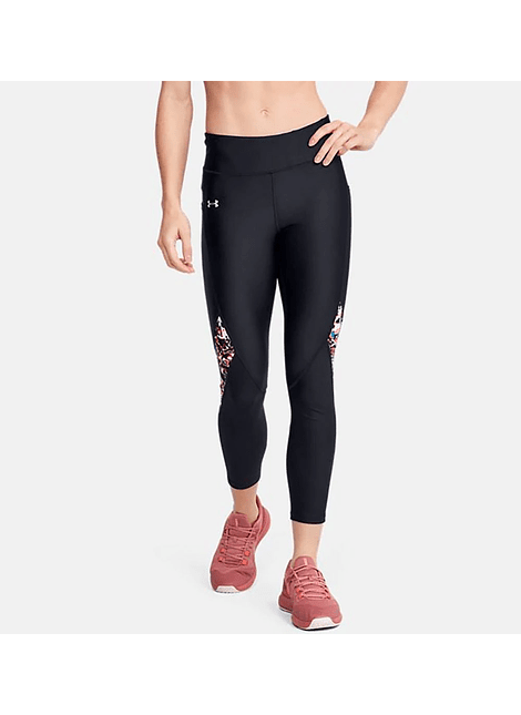 UA 1351707-001 UA HG Armour Prnt Ankle Crop-BLK L