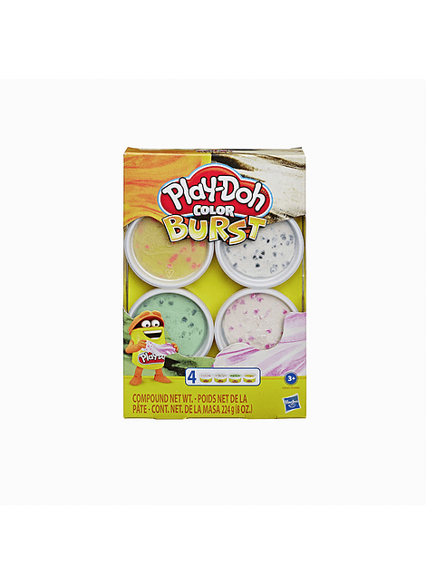 PLAY-DOH MUNDO DE TEXTURAS COLOR BURST 4 PACK