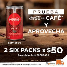2 Six Packs Coca Cola con Café Lata 235ml