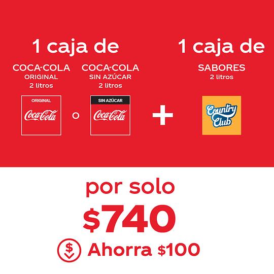 Combo Coca-Cola + Sabores 2 Litros