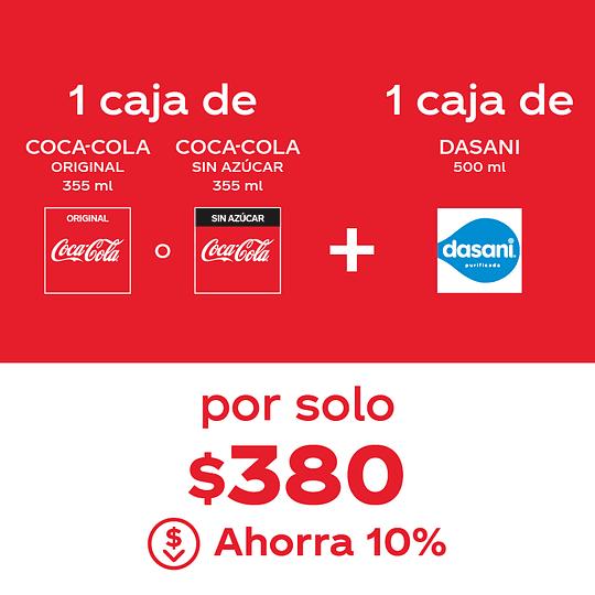 Combo Coca-Cola 355ml + Dasani 500ml