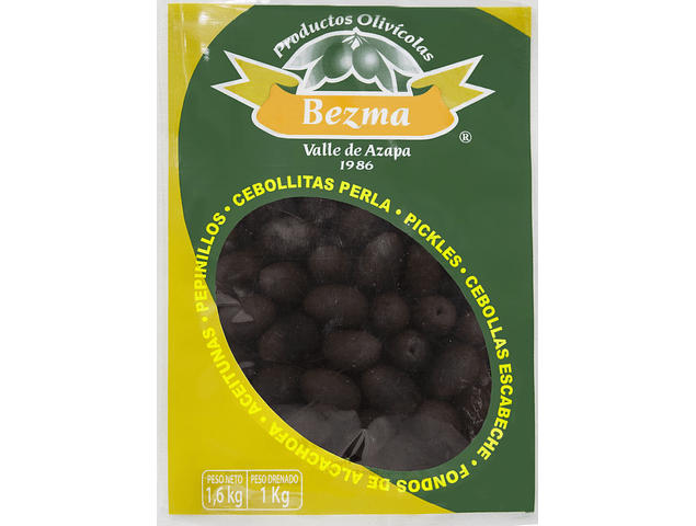 Aceitunas sin Amargo Bolsa de 1 Kg Calibre 150-170