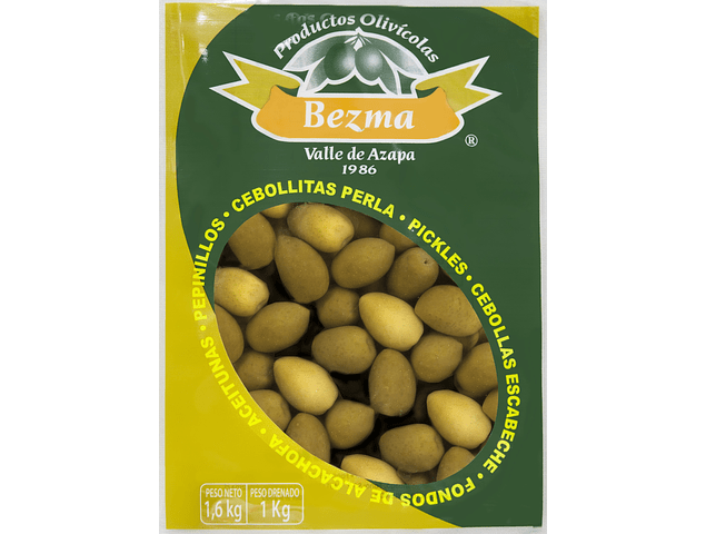 Aceitunas Sevillanas Bolsa de 1 Kg.  Calibre 12-16