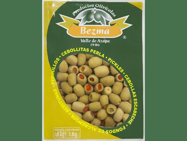 Aceitunas Sevillanas Rellenas con Rocoto Bolsa 1 Kg.
