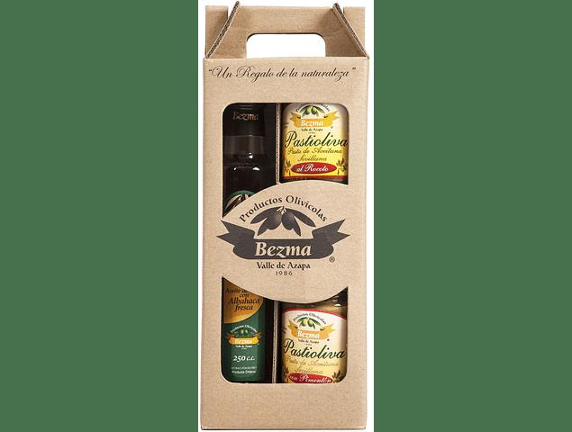 Pack de Regalo 3 productos - Aceite Sabor Intenso con albahaca