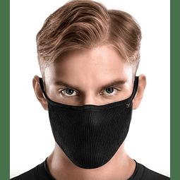Máscara Filtrante Antimicrobiana Lavable Fu+ Copper Negro