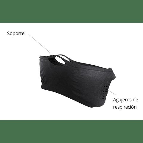 MÁSCARA DEPORTIVA TEJIDO ULTRAFINO SIN CUELLO N1S