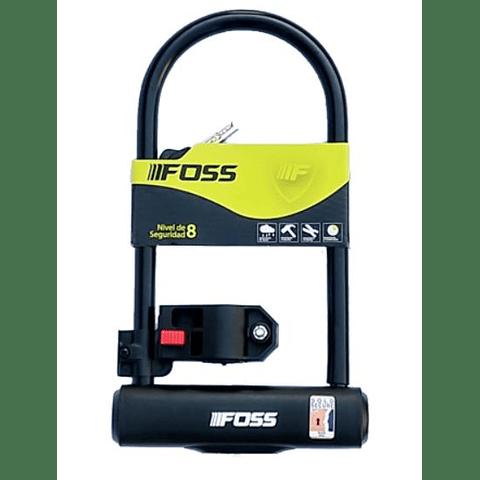 Candado Foss U-Lock 110x230mm Negro Con Soporte