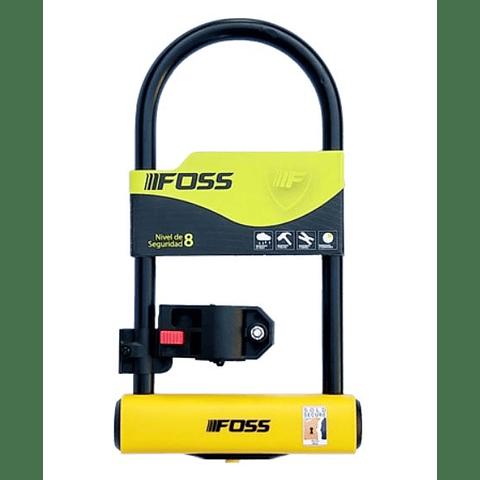 Candado Foss U-Lock 110x230mm Negro/Amarillo