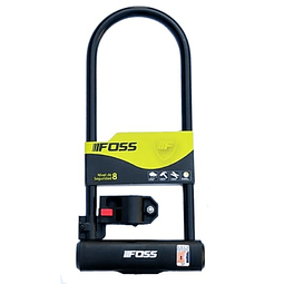 Candado Foss U-Lock 110x300mm Negro . Doble anclaje